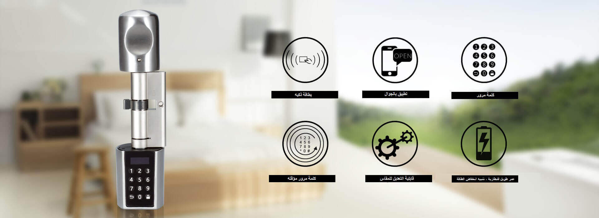 L6PCB هو قفل باب ذكي بطرق فتح متعددة عن طريق الرقم السري والكروت و تطبيق الجوال
